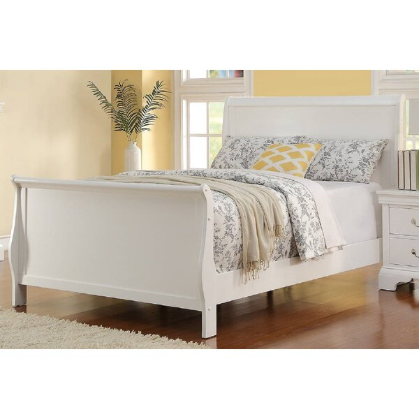 Noam Sleigh Bed by Rosecliff Heights