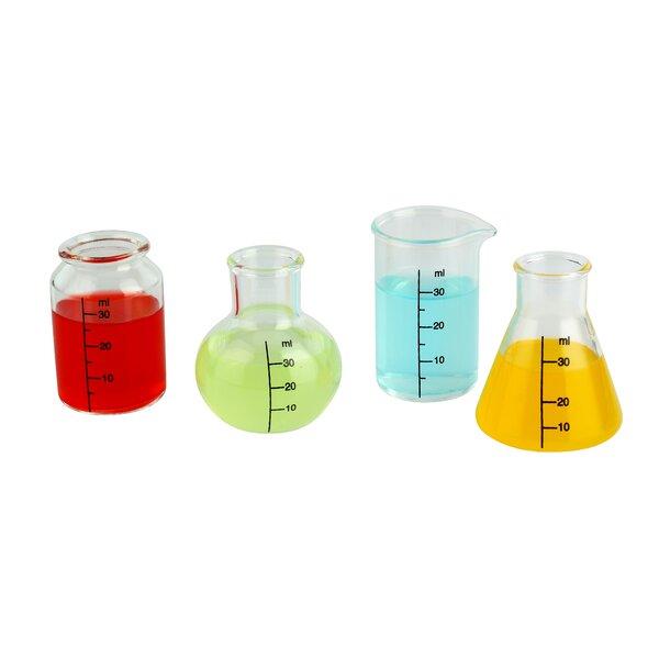 Giesen Lab Shots 4 Piece Glass Assorted Glassware Set (Set of 2) by Wrought Studio