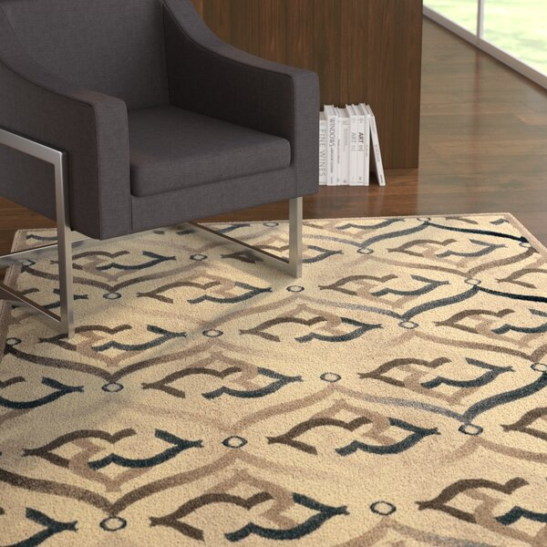 Fulop Bone Area Rug by Ebern Designs