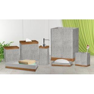 Cerny Concrete Stone 7 Piece Bathroom Accessory Set