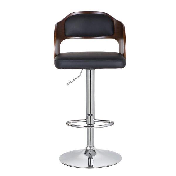 Philip Adjustable Height Swivel Bar Stool by Corrigan Studio