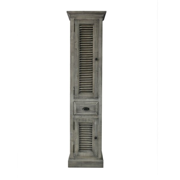 Connolly 19.6 W x 79 H Linen Tower by Rosecliff Heights