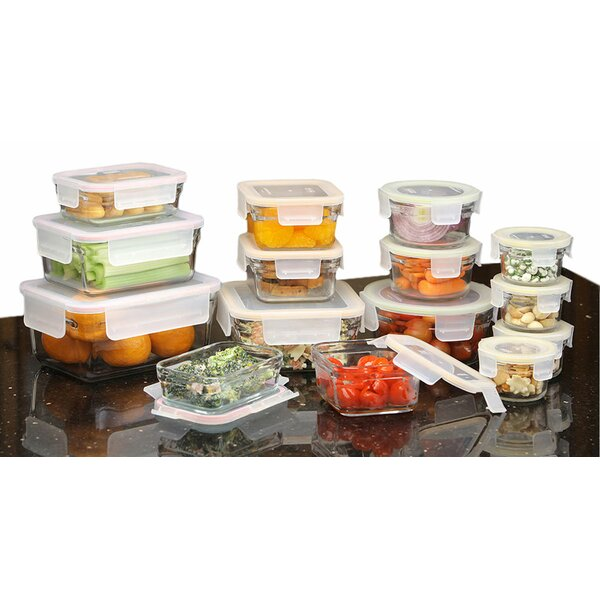 Rimless 30 Container Food Storage Set by Glasslock