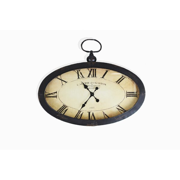 Elnora Oval Roman Numeral Wall Clock by Darby Home Co