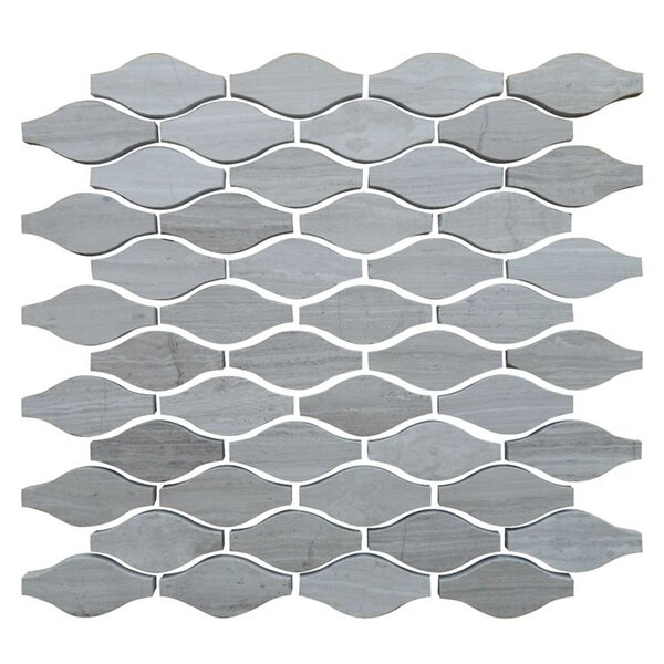Drops 12 x 12 Natural Stone Mosaic Tile in Gray by QDI Surfaces