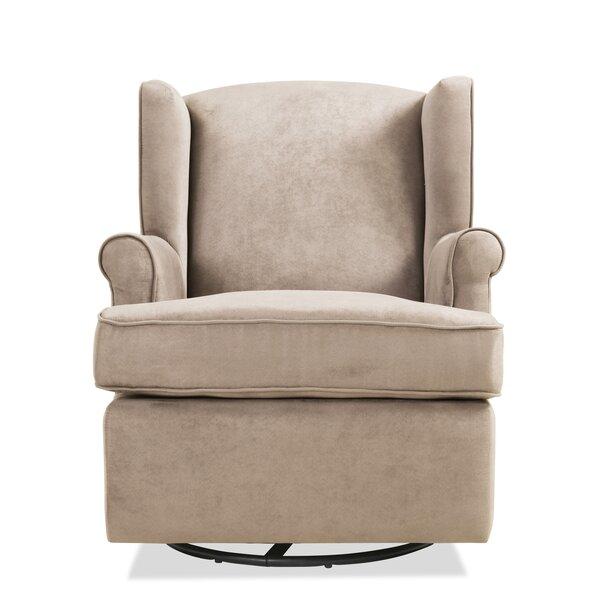 Tessa Glider Swivel 20-inch Armchair by Red Barrel Studio Red Barrel Studio