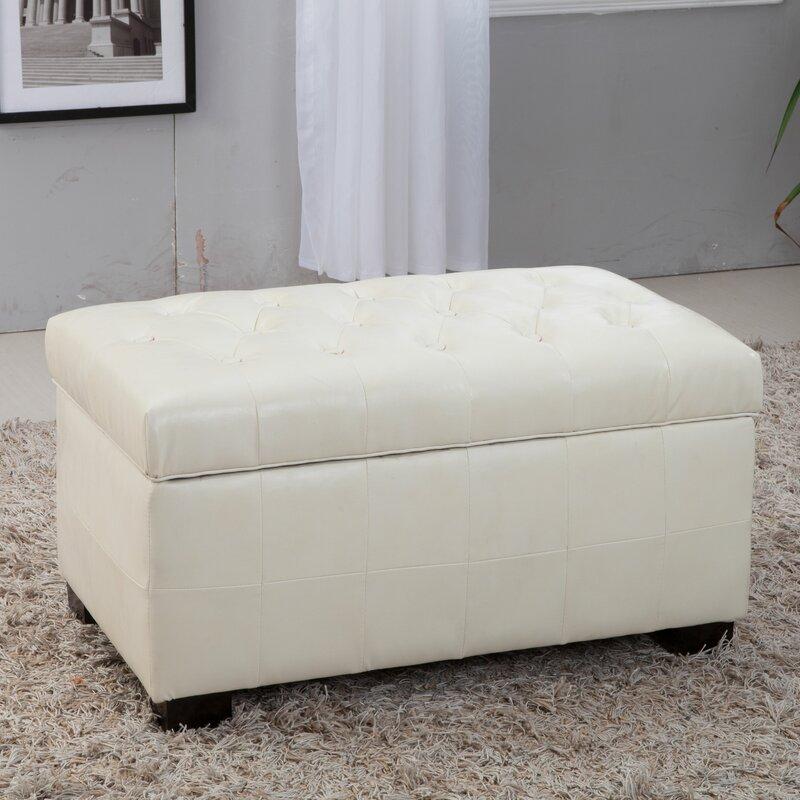 Noya Usa Castilian Upholstered Storage Bedroom Bench: NOYA USA Castillian Leather Storage Bench & Reviews