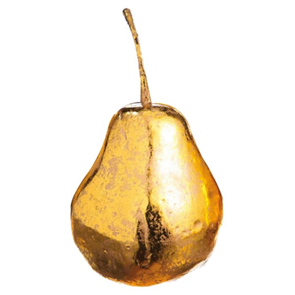 Gilded Pear Sculpture (Set of 4) by Evergreen Enterprises, Inc