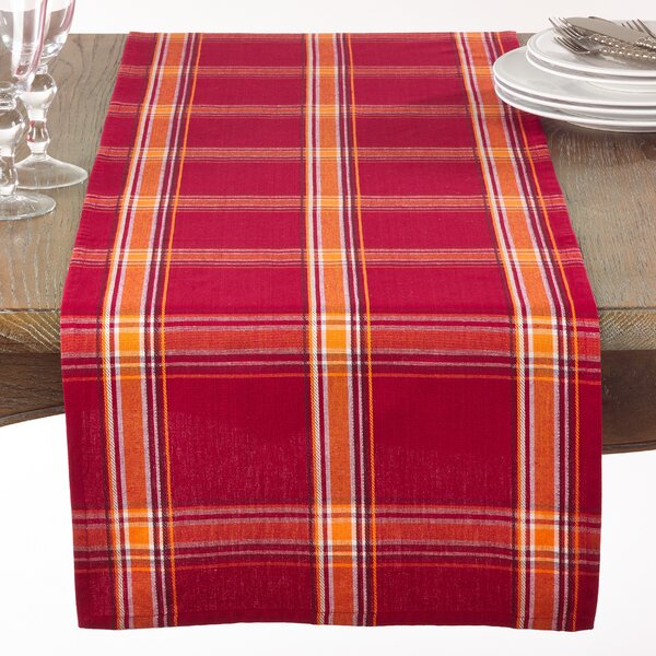Elzy Plaid Table Runner by August Grove