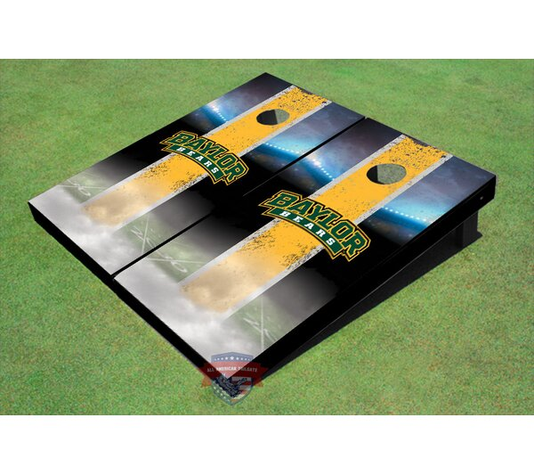 NCAA Field Long Strip Matching Cornhole Board (Set of 2) by All American Tailgate