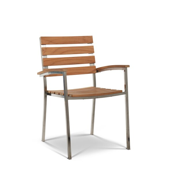 Bendel Stacking Teak Patio Dining Chair (Set of 2) by Rosecliff Heights Rosecliff Heights