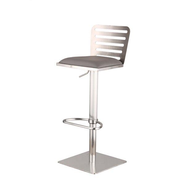 Delmar Adjustable Height Swivel Bar Stool by Armen Living