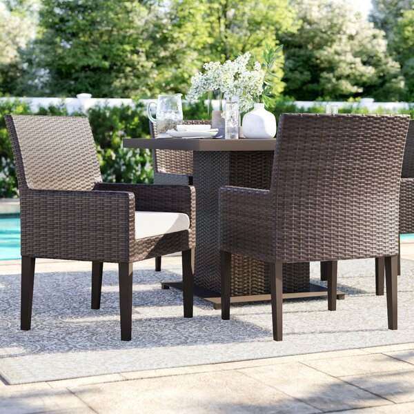 Tegan Patio Dining Chair with Cushion (Set of 4) by Sol 72 Outdoor