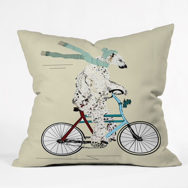Brian Buckley Polar Bear Days Throw Pillow by Deny Designs