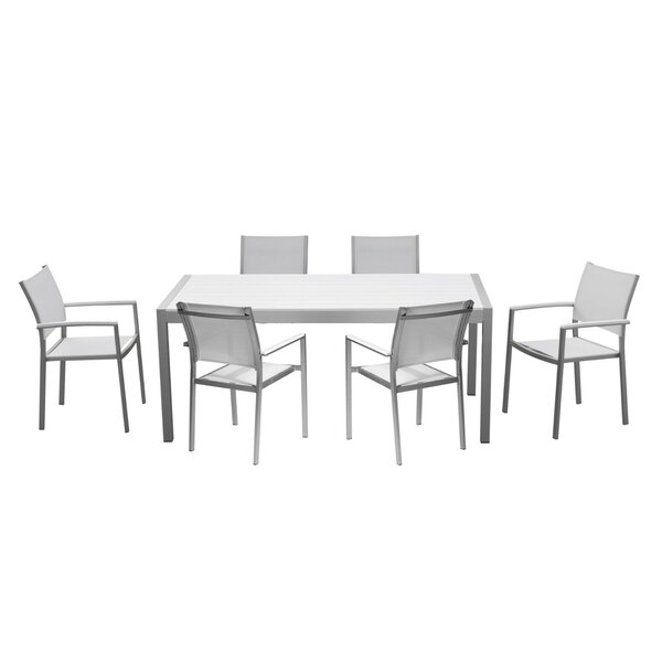 Leach Aluminum Outdoor 7 Piece Dining Set by Orren Ellis