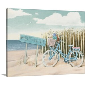 'Beach Cruiser II Crop' by James Wiens Painting Print on Wrapped Canvas by Great Big Canvas