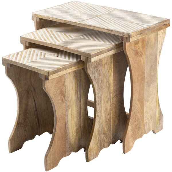 Schulz 3 Piece Nesting Tables By Bungalow Rose