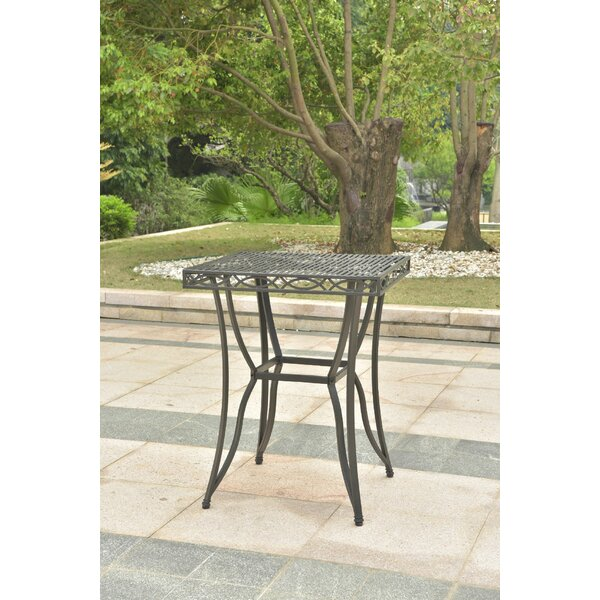 Oak Bluffs Iron Bar Table by Fleur De Lis Living