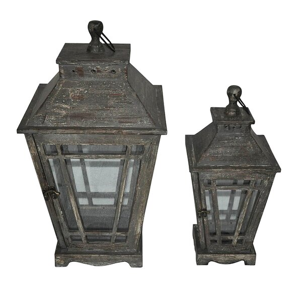 Garden 2 Piece Metal Lantern Set by Cheungs