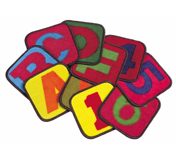 Educational Buidling Blocks Area Rug by Flagship Carpets