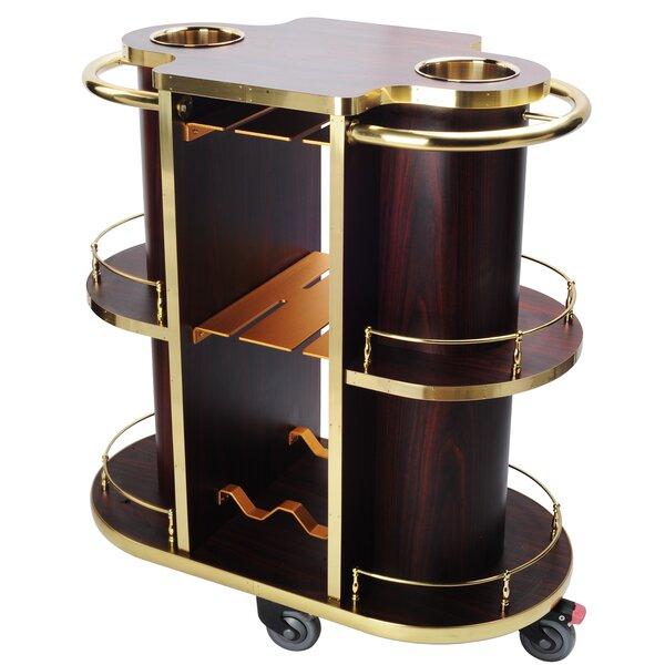 Wooden Bar Cart by Cosmopolitan Furniture