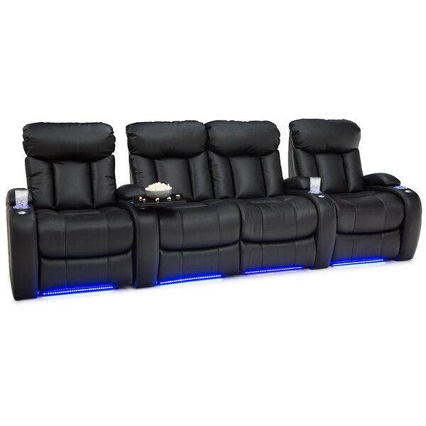 Home Theater Row Seating (Row of 4 with Middle Loveseat) by Latitude Run Latitude Run