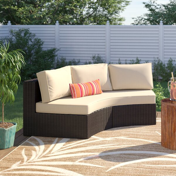 Michal Patio Sofa with Cushions by Highland Dunes