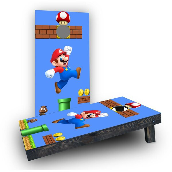 Super Mario Brother - Mario Cornhole Boards (Set of 2) by Custom Cornhole Boards