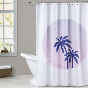 Ashlee Rae Palm Tree Circle Shower Curtain