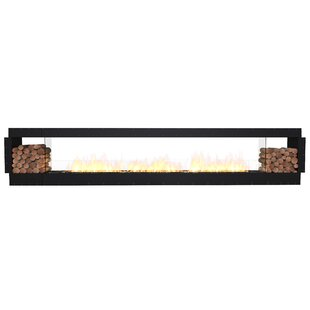 FLEX158 Double Sided Wall Mounted Bio-Ethanol Fireplace Insert By EcoSmart Fire