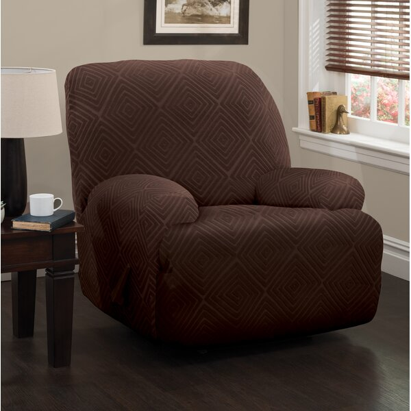 Diamond Box Cushion Recliner Slipcover by Symple Stuff