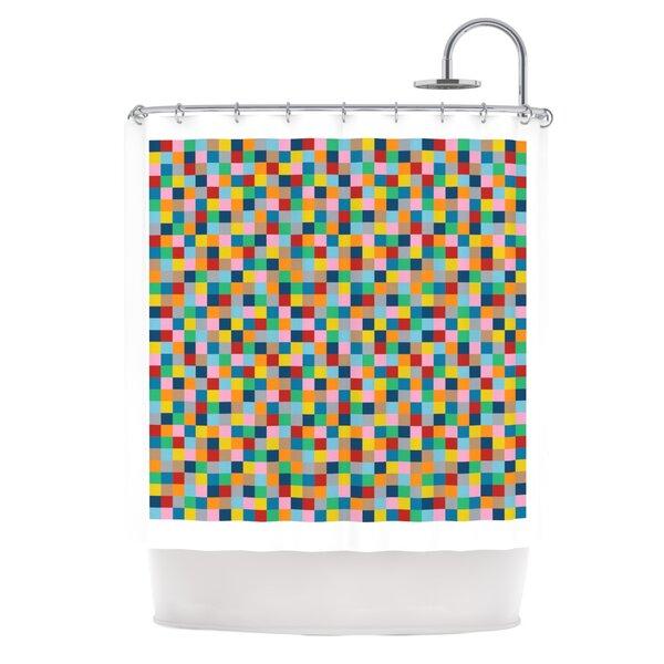 Colour Blocks Shower Curtain by KESS InHouse