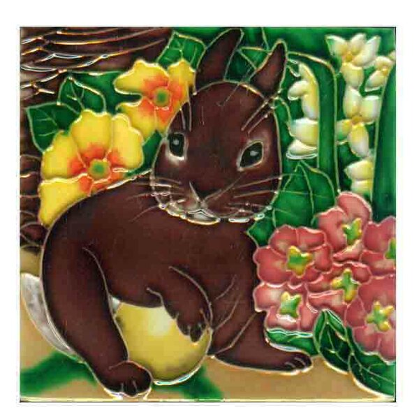 Rabbit Tile Wall Decor by Continental Art Center