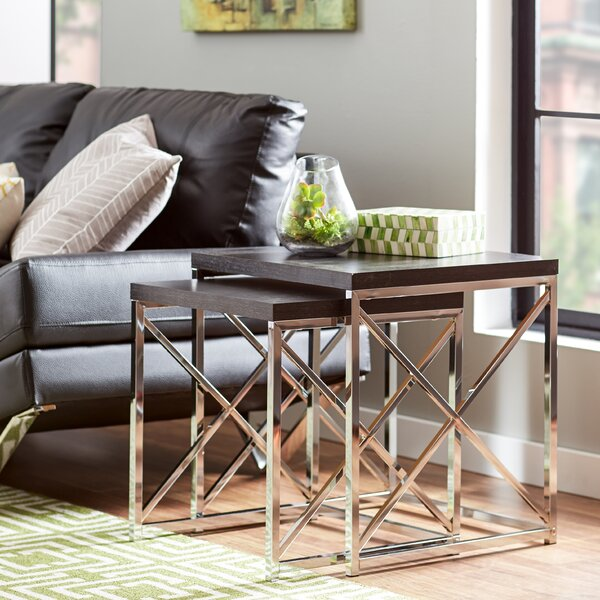 Koerner 2 Piece Nesting Tables by Mercury Row