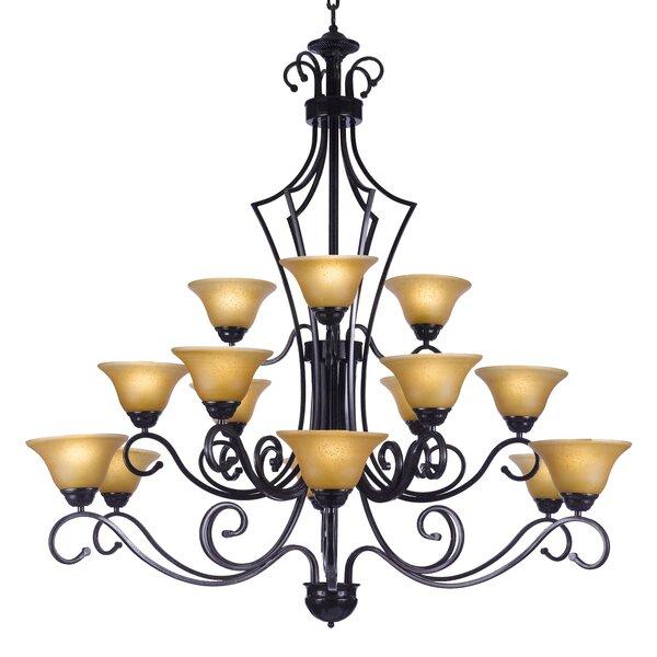 Rosita 15 - Light Shaded Tiered Chandelier by Fleur De Lis Living Fleur De Lis Living