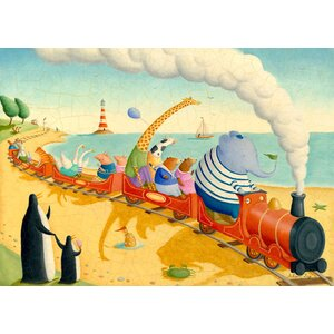 Seaside Train Ride Canvas Art by Oopsy Daisy