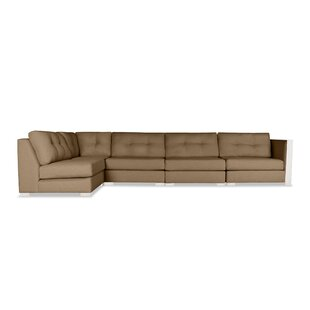 Steffi Buttoned Left L-Shape Modular Sectional
