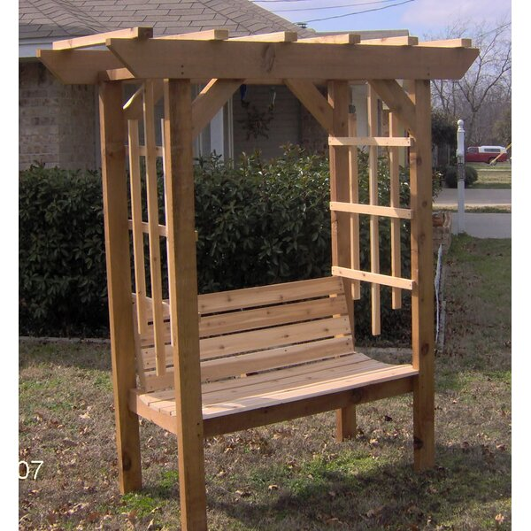 Park Style Garden Arbor with Bench by Threeman Products