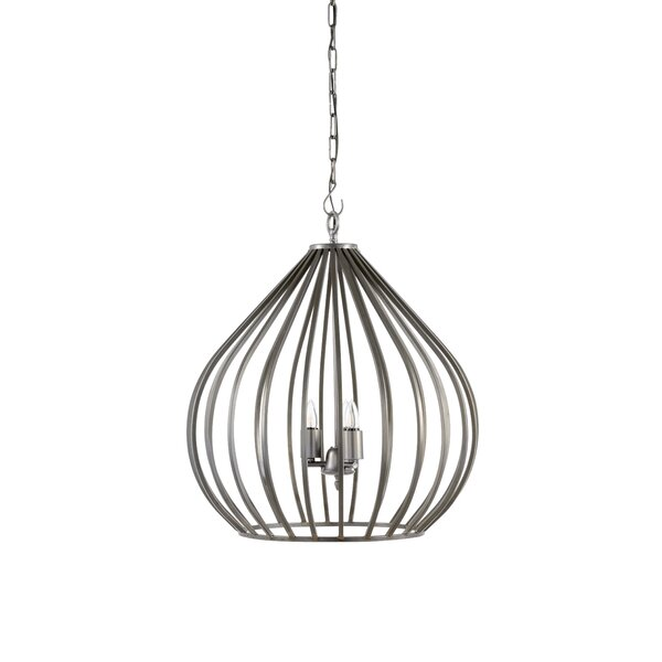 Camille 3-Light Unique / Statement Geometric Chandelier By Wildwood