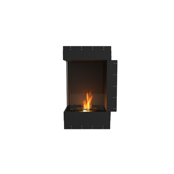 Flex Left Corner Recessed Wall Mounted Bio-Ethanol Fireplace by EcoSmart Fire