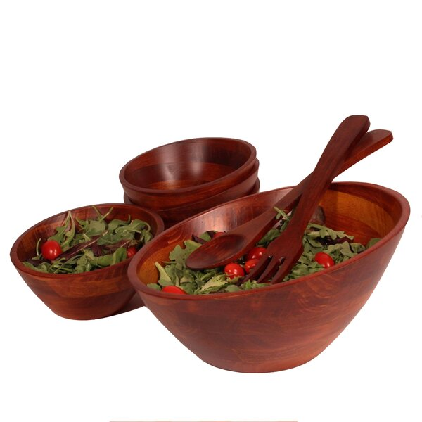 Alivia Salad Bowl Set (Set of 7) by Langley Street