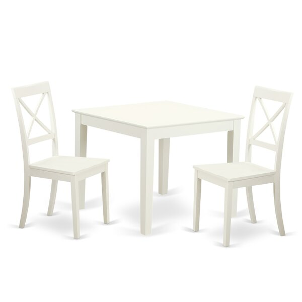 Cobleskill 3 Piece Dining Set by Alcott Hill