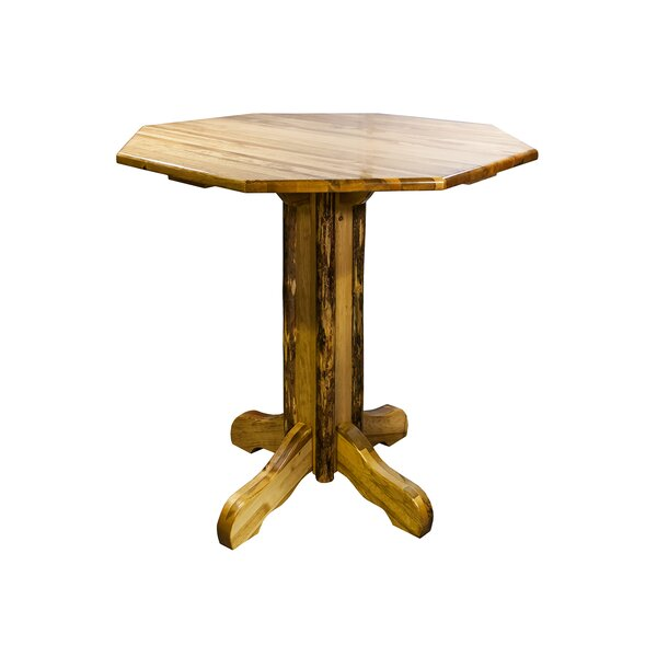 Tustin Counter Height Pine Solid Wood Dining Table by Loon Peak Loon Peak