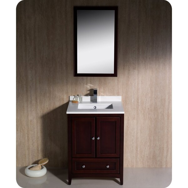 Oxford 24 Single Bathroom Vanity Set with Mirror by Fresca