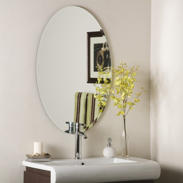 Thornbury Oval Bevel Frameless Wall Mirror by Bray