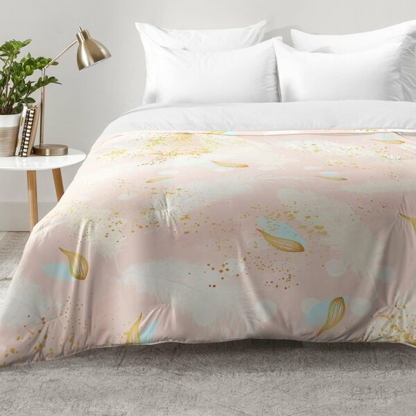 Abstract Painting With Feather Strokes Comforter Set By East Urban Home.