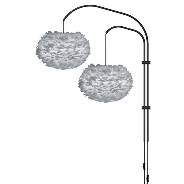 Eos 2-Light Modern Feather Globe Swing Arm by Umage