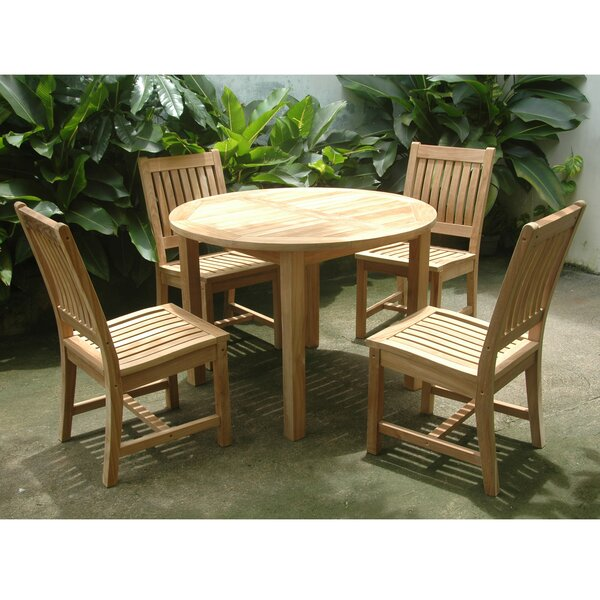 Kratochvil 5 Piece Teak Dining Set by Bayou Breeze