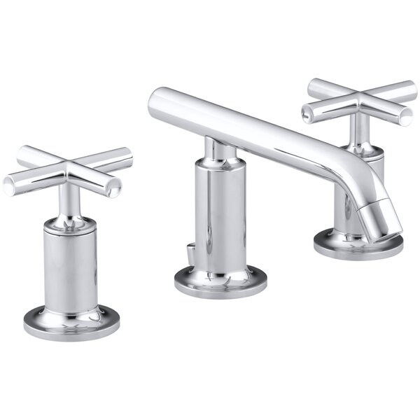 Purist Widespread Bathroom Sink Faucet with Low Cross Handles and Low Spout by Kohler
