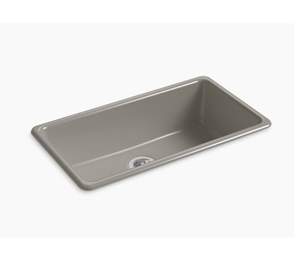 IronTones® 33 L x 18.75 W x 9.6 Top/Undermount Single Bowl Kitchen Sink by Kohler